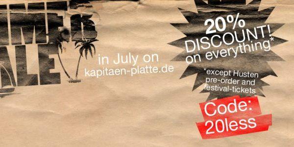 Summer Sale & Kapitän Platte Fest